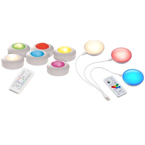 LED Spots mit Farbwechsel / Warmweiß