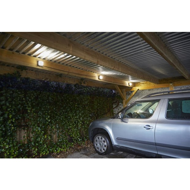 Northpoint LED Universal Arbeitsleuchtenkette 13m Innenbereich / Außenbereich 48W 6 Lampen 4000K neutralweiß Befestigungshaken Kabelaufrollhilfe 3m Zuleitung 2m Abstand