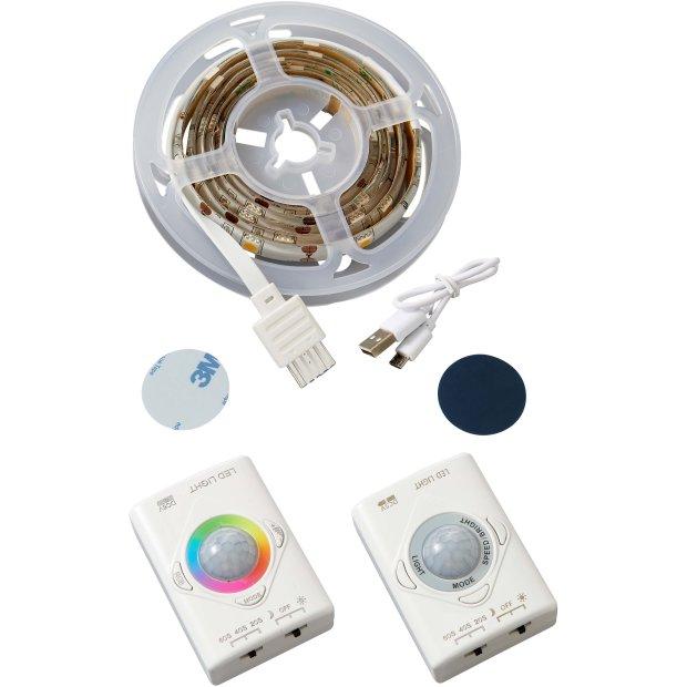 Aufladbarer LED Streifen Bewegungsmelder Innenbereich Schrankleuchte 1100mAh Li-Io Akku