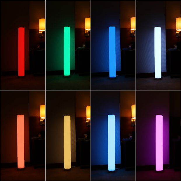 Northpoint LED Lichtsäule glatt Stehlampe Standleuchte Stehleuchte dimmbar Farbwechsel mit Fernbedienung
