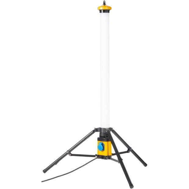 Northpoint LED Turm 50W 360 ° Baustrahler Arbeitsstrahler IP54 mit Schalter und Steckdose 5000 Lumen Farbwiedergabewert Ra>90
